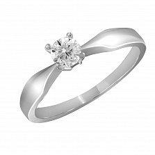 Кольцо из белого золота Сладкий миг с бриллиантом