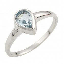 Серебряное кольцо Асия с топазом