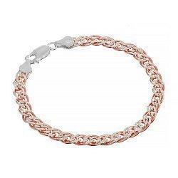 Серебряный браслет с позолотой, 4 мм 000072123
