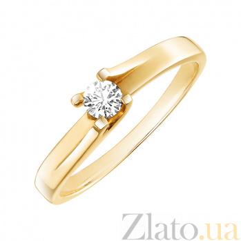 Золотое кольцо с бриллиантом Ксюша R 0571
