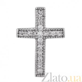 Золотой крестик с бриллиантами Истина P0771
