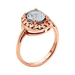 Кольцо из красного золота с топазом 000145848
