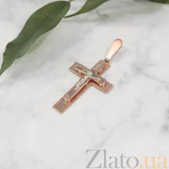 Крестик из золота Святая вера EDM--КР0117/1