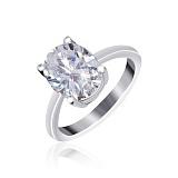 Серебряное кольцо с фианитом Эдвена