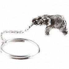Серебряный брелок Слон