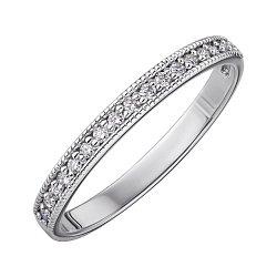 Кольцо из белого золота с бриллиантами 000147801