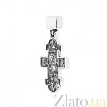 Серебряный крест с чернением Посланники с небес ONX--131110