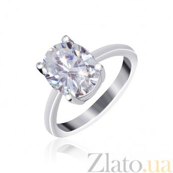 Серебряное кольцо Эдвена с прозрачным фианитом 000025508