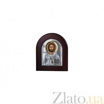 Серебряная икона Иисуса Христа в дереве AQA-EP2-001XAG