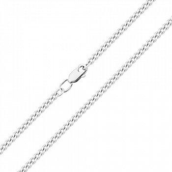 Цепочка из белого золота в панцирном плетении 000136616