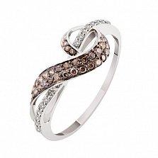 Кольцо из белого золота с бриллиантами Александра