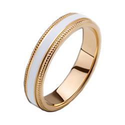 Женское золотое обручальное кольцо Ночь жаркого лета с эмалью