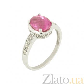 Золотое кольцо с турмалином и бриллиантами Карменсита 1К034-0033