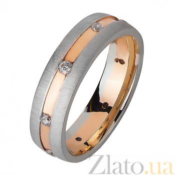 Золотое обручальное кольцо Море романтики с фианитами TRF--4421401