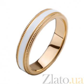 Женское золотое обручальное кольцо Ночь жаркого лета с эмалью PRT--R-PTZ-E3