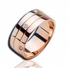 Кольцо из комбинированного золота с бриллиантами Весна в Париже (женское)