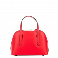 Миниатюрная кожаная сумка Genuine Leather 8672 красного цвета на кулиске, с металлическими ножками