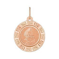 Подвеска из красного золота Знак Зодиака Дева 000147758