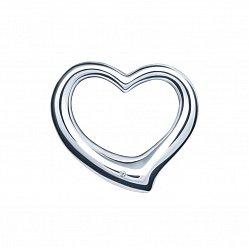 Серебряный кулон-сердце Лирика с бриллиантом 000046084