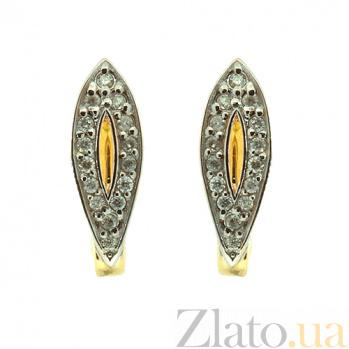 Золотые серьги с бриллиантами Петра ZMX--ED-6785_K
