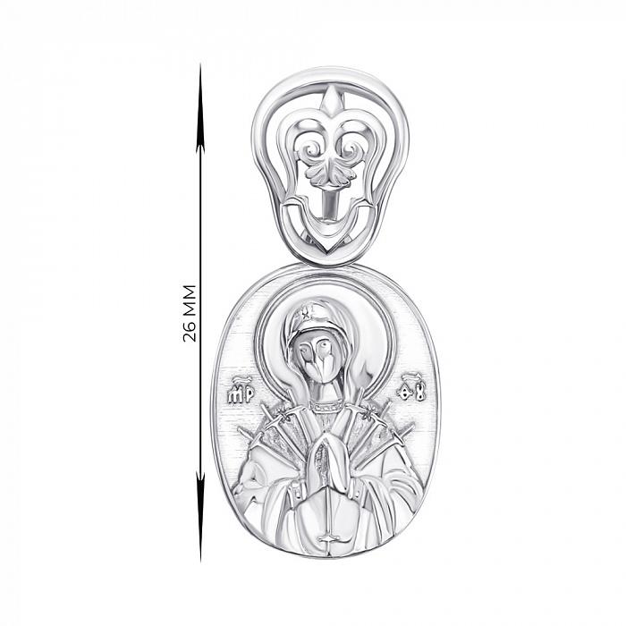 Серебряная ладанка Божия Матерь Семистрельная 000147184 000147184