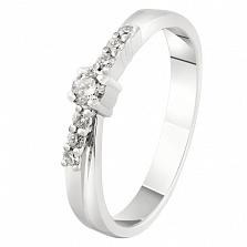Кольцо из белого золота с бриллиантами Моя мечта