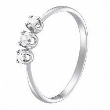 Кольцо в белом золоте Иванна с бриллиантами