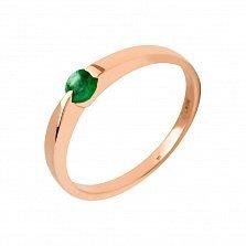 Кольцо в красном золоте Ульяна с изумрудом