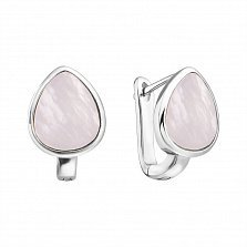 Серебряные серьги с перламутром 000127293