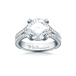 Золотое кольцо с аквамарином и бриллиантами Love in May