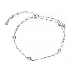Серебряный браслет с цирконием 000027968