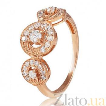 Золотое кольцо Элиза с фианитами EDM--КД0455