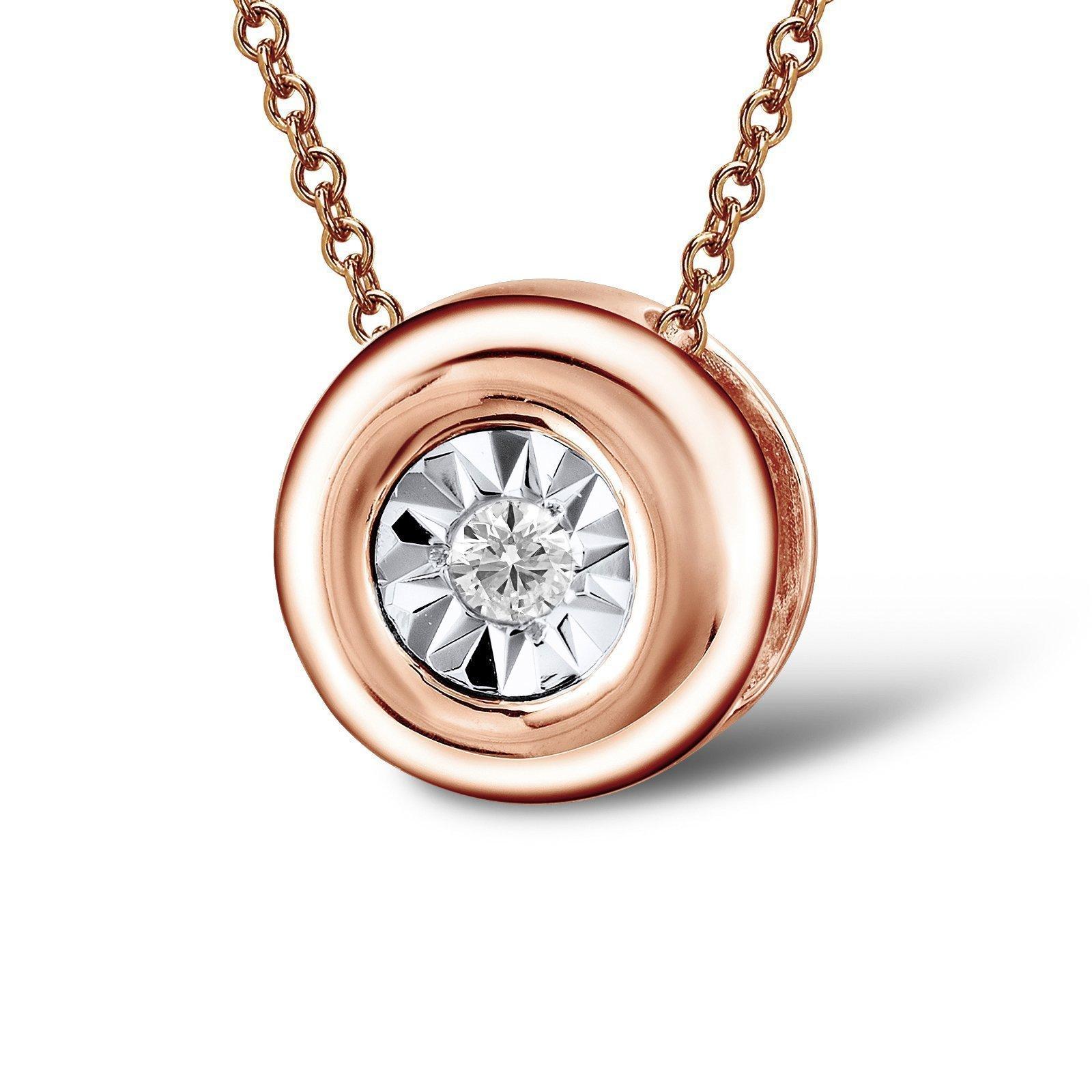 Кулон из красного золота Сабрина с бриллиантом