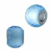 Серебряный шарм Саманта с голубым муранским стеклом