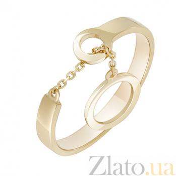 Кольцо из желтого золота Механика 000032633