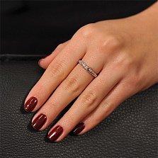 Кольцо из белого золота с бриллиантом Ажурная роскошь