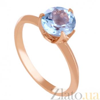 Золотое кольцо с голубым топазом Азиза VLN--112-1576-1