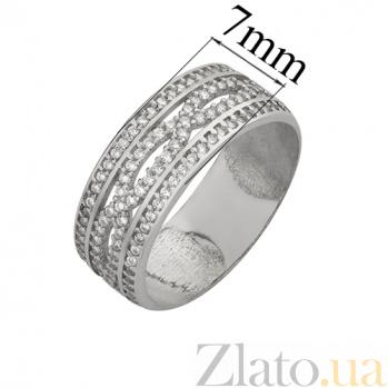 Серебряное кольцо с фианитами Джулия 2305.1