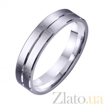 Обручальное кольцо из белого золота Дорога счастья TRF--421283