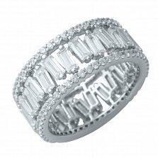 Серебряное кольцо Фонтана с фианитами
