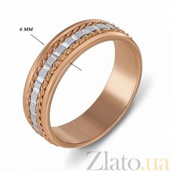 Обручальное кольцо из красного и белого золота Страсть 1040
