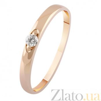Золотое кольцо с бриллиантом Признание KBL--К1964/крас/брил