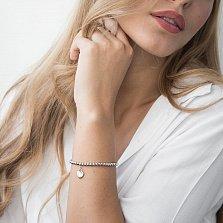 Серебряный браслет Каролина с подвеской-сердцем в стиле Тиффани