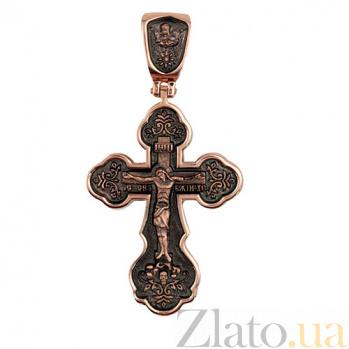 Крестик с черным родированием Крещение Руси VLT--КЛ3006-3