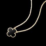Колье из желтого золота с черным ониксом Alhambra