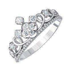 Серебряное кольцо с фианитами 000144043