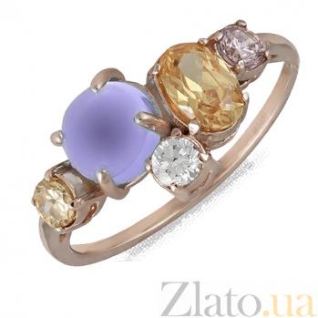 Кольцо в красном золоте Бренда с аметистом и фианитами 000023472