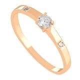Кольцо из красного золота с фианитами Симфония