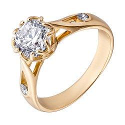 Кольцо в желтом золоте Флер с бриллиантами