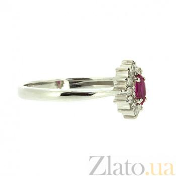 Кольцо из белого золота с рубином и бриллиантами Джастина ZMX--RR-9040w_K